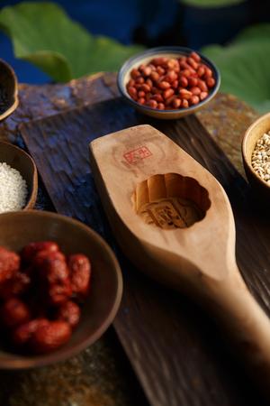 jujube fruits: Moon cake making Stock Photo