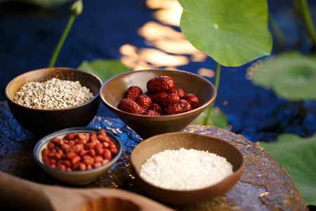 jujube fruits: Making moon cakes ingredients Stock Photo