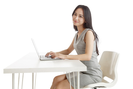 Business women use computers