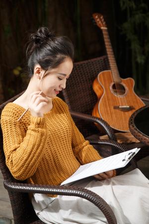 Young women write music