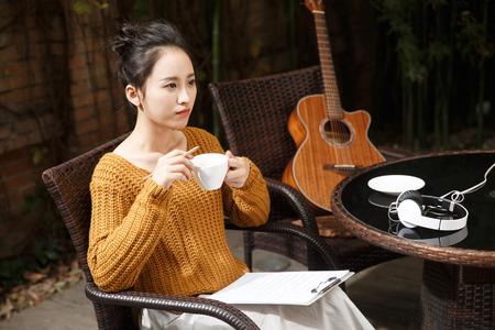 making music: Young women write music