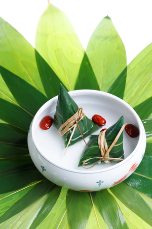 Traditional Chinese Zongzi with jujube