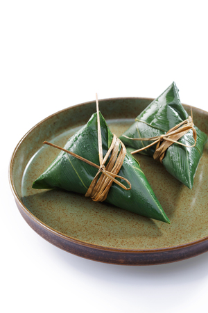 Traditional Chinese Zongzi Stock Photo