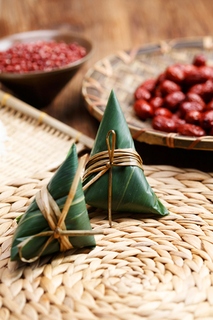 Traditional Chinese Zongzi with jujube