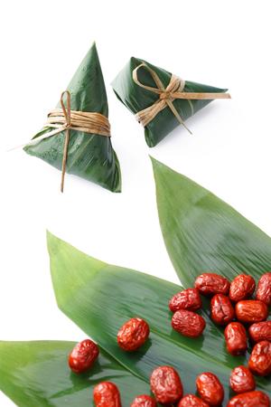Traditional Chinese zongzi with jujube Stock Photo