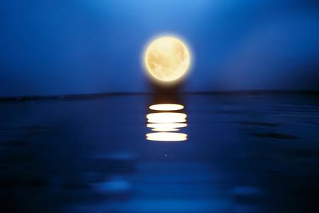 Mid Autumn Moon Stock Photo
