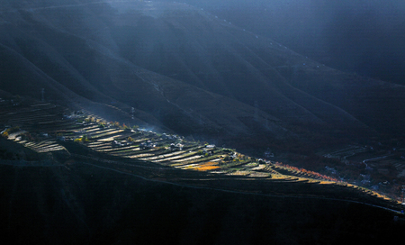 Scenery of Jinchuan County of Sichuan Province Stock Photo