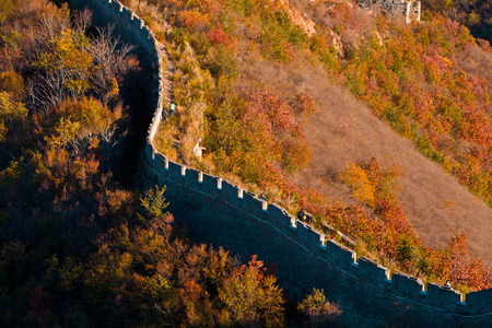 The Great Wall, Qinhuangdao, Hebei Stock Photo