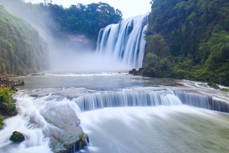 Huangguoshu Waterall in Guizhou Province Фото со стока