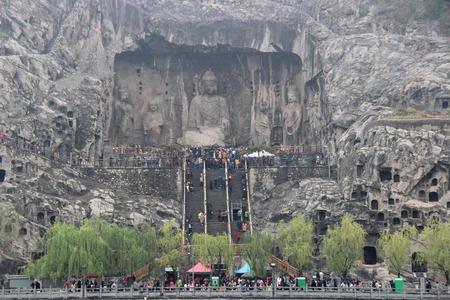 Longmen Grottoes in Henan Province Editorial