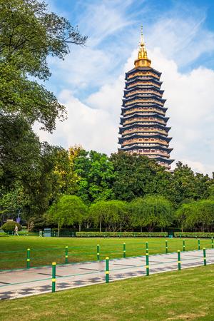 Tianning park landscape, Changzhou, Jiangsu Editorial