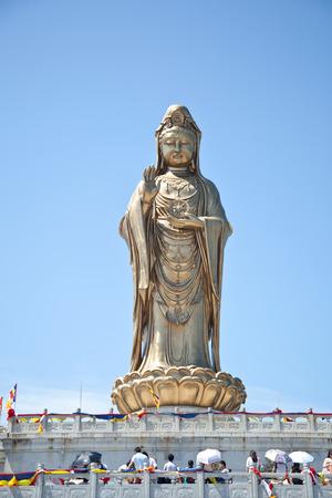 Guanyin statue of Nanhai, Zhoushan,, Zhejiang Stock Photo
