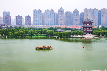 Datang Furong garden, Xian, Shaanxi Stock Photo