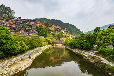 human settlement: Guizhou province Kaili Qianhu Miao Village Stock Photo