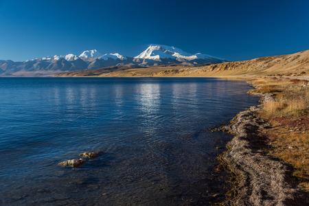 riverbank: Tibet Alima near Yumco lake scenery