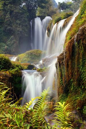 steep: Guangxi Detian Waterfall