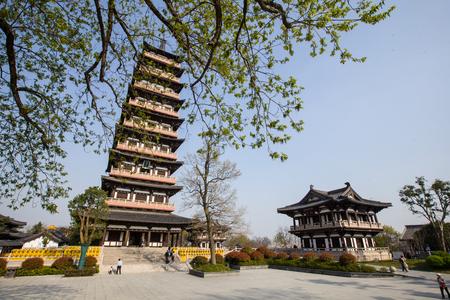 Jiangsu Province, Yangzhou Daming Temple Lingta habitat Stok Fotoğraf