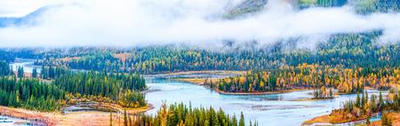Xinjiang Kanas Lake fairy Bay Stock Photo