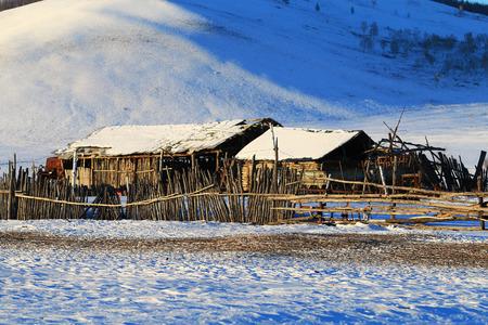 Winter snow scene in Heilongjiang, Greater Khingan Range