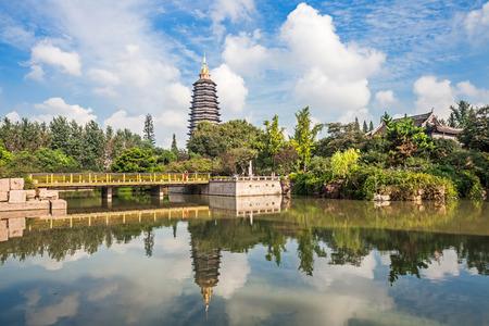 Tianning park landscape, Changzhou, Jiangsu Фото со стока