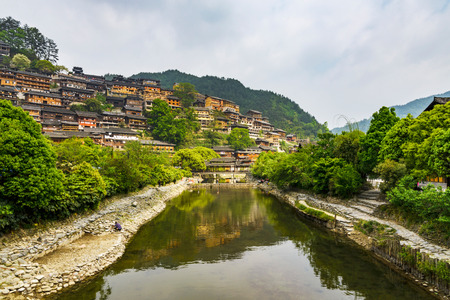 Guizhou province Kaili Qianhu Miao Village Stock Photo