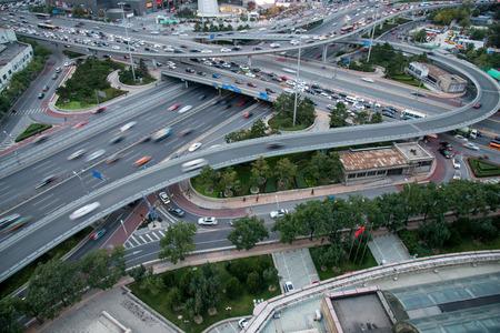 Beijing urban road Stock Photo