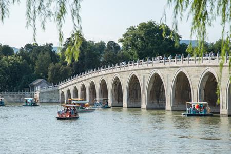 Summer Palace lake Editorial