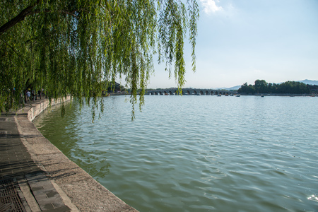 The Summer Palace lake view Stock Photo