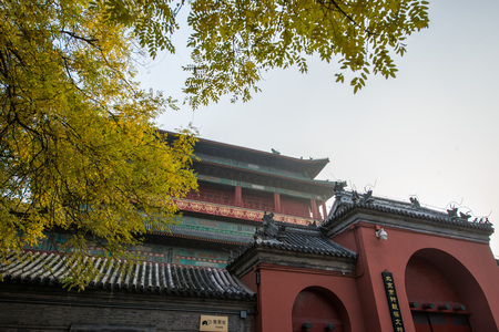 Beijing Bell Tower and Drum Tower gate tower Editorial