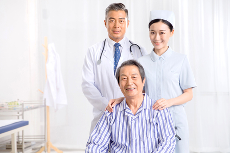 Medical workers and patients 版權商用圖片