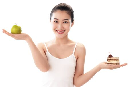 Young women to lose weight, body care concept Фото со стока