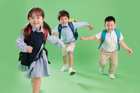 Running of the three primary school students