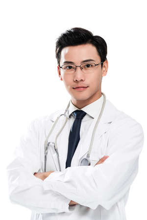A young male doctor portrait Stock fotó