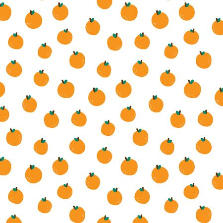 Hand drawn vector illustration of orange pattern.