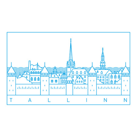 borough: Tallinn line art landscape