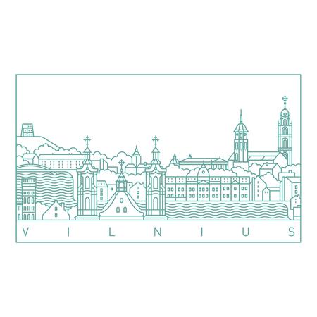 Vilnius line art landscape