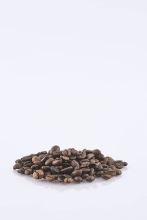 Coffee Beans on white  area for copy space Reklamní fotografie