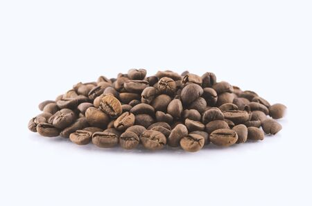 Coffee Beans on white  area for copy space Stok Fotoğraf