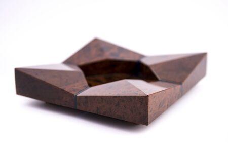 Beautiful luxury stone ashtray isolated on white