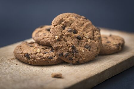 Traditional double chocolate chip cookie