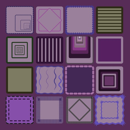 purple background with different squares Vector