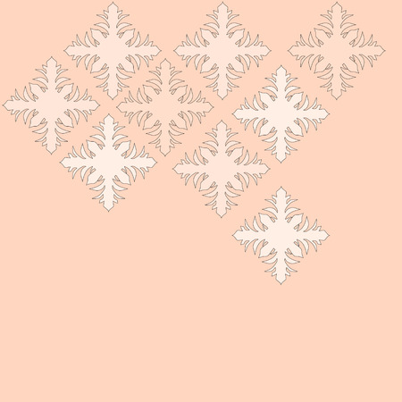 ilustration and painting: pink floral pattern on a pink background Illustration