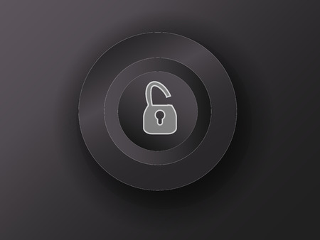 option key: luminous button on the gray background Illustration