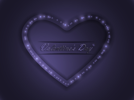 Love. Valentine's Day. Color glowing heart. Declaration of love.