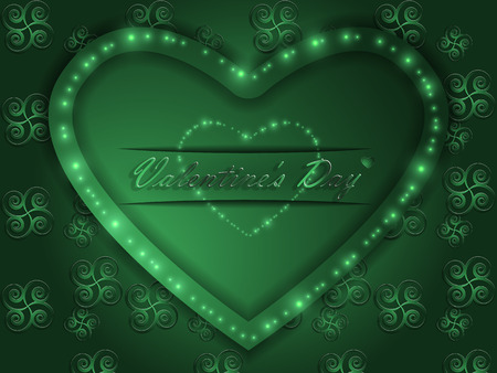 Valentine's Day - Color glowing heart. Vettoriali