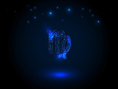 Sterrenbeeld op de sterrenhemel. Astrologisch symbool. Zodiac-cirkel op een blauwe achtergrond. Sterren. Cirkel van het leven.