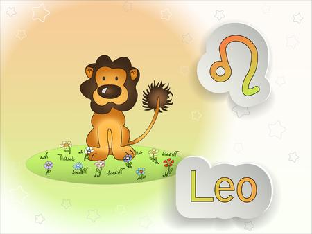 Zodiac sign cartoon vector illustration.Astrological symbol.
