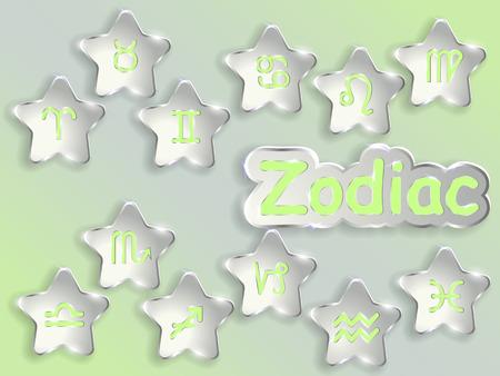 Segno zodiacale vettore illustrazione vettoriale illustration.Astrological symbol. Archivio Fotografico - 88115121