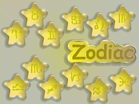 Segno zodiacale vettore illustrazione vettoriale illustration.Astrological symbol. Archivio Fotografico - 88115126