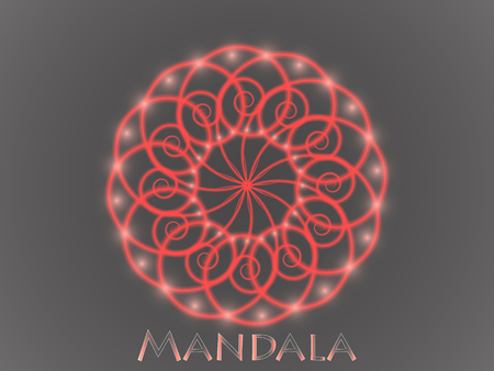 Mandala. Round Ornament Pattern. Islam, Arabic, Indian, ottoman motifs. Vettoriali